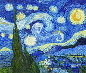 The Starry Night - Vincent Van Gogh - diamond-painting-bliss.myshopify.com