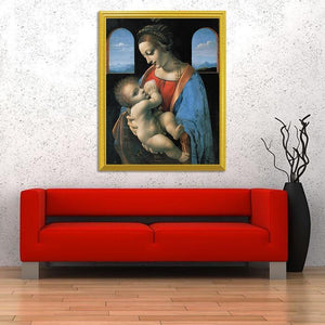 MADONNA LITTA PAINTING - Leonardo da Vinci - diamond-painting-bliss.myshopify.com