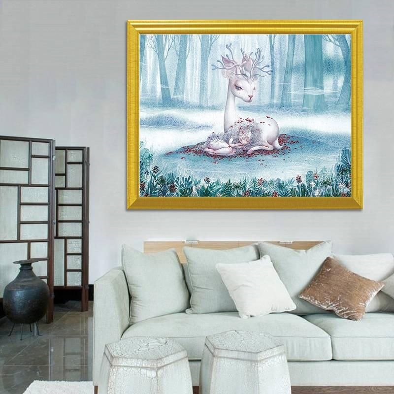 Fairy & Deer DIY Diamond Painting - diamond-painting-bliss.myshopify.com