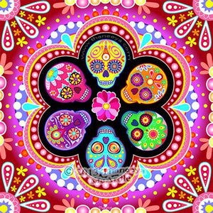 Sugar Skulls Calendar Art - Thaneeya McArdle - diamond-painting-bliss.myshopify.com