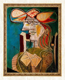 Seated Woman on Wooden Chair - Pablo Picasso - diamond-painting-bliss.myshopify.com