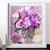 Pink & Purple Roses DIY Diamond Painting - diamond-painting-bliss.myshopify.com