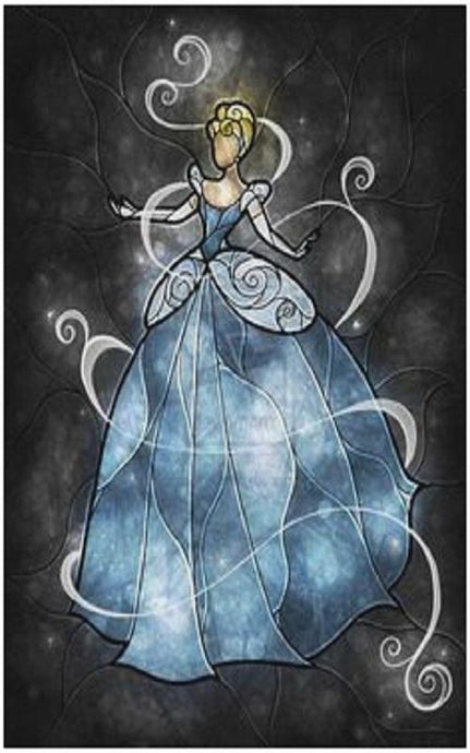 Dancing Cinderella Stained Glass Painting - diamond-painting-bliss.myshopify.com