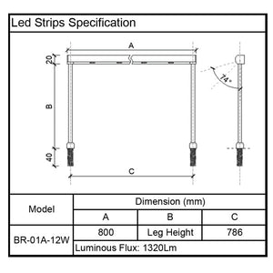 Led Strips Led Bar for Glass Display Showcase specification
