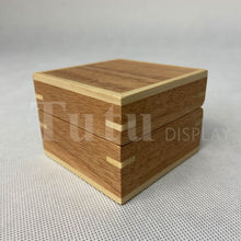 Load image into Gallery viewer, Natural Wood Ring Box|Wedding Ring Box|Engagement Ring Box|Jewelry Box