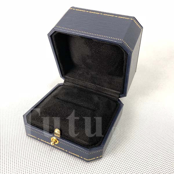 Ring box | Jewelry box | Leatherette paper box | Gift box | Double ring box