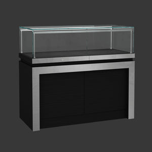 Black Display Counter Showcase