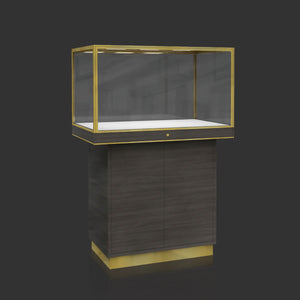 Jewelry Window Display Case with Led Light MT-14 Cabinet Back