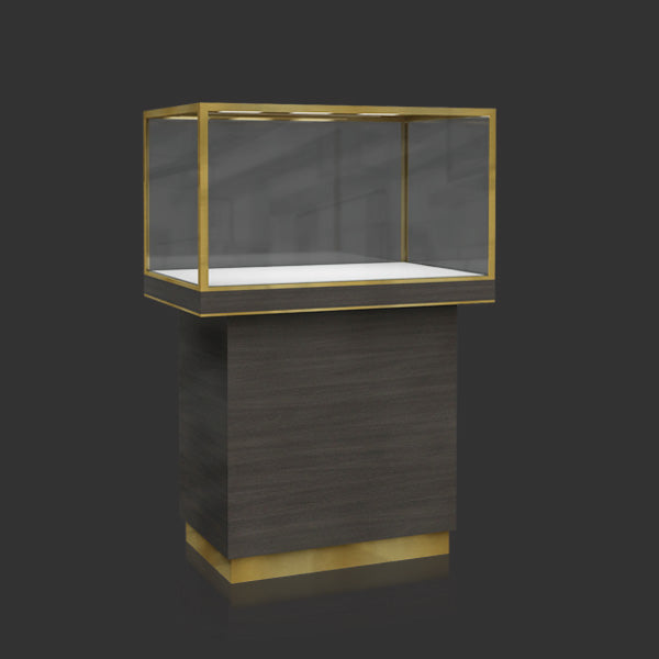 Jewelry Window Display Case with Led Light MT-14 Cabinet Front