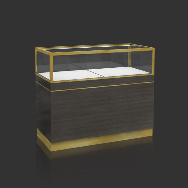 Metal Jewelry Display Case with Led Light MT-15 Cabinet Front
