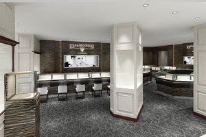 Jewelry Retail Store 3D Rendering