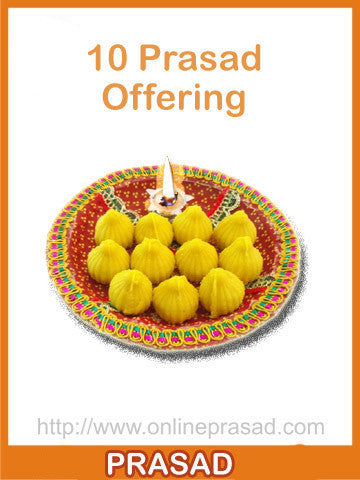 New Year Special - 10 Temple Prasad Offerings - OnlinePrasad.com
