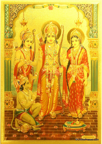 The Ram Darbar Golden Poster - OnlinePrasad.com