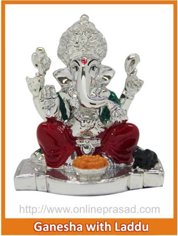 The Ganesha With Laddu Idol , Zevotion - Sai Shagun, OnlinePrasad.com