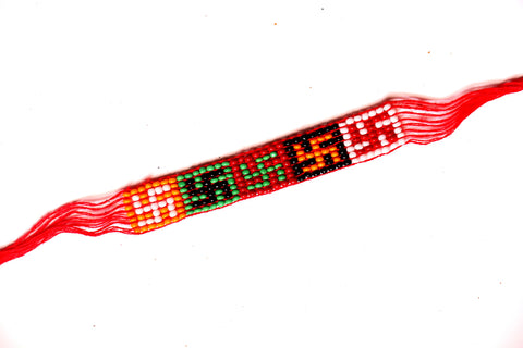 Swastik Rakhi with Colorful beads , Zevotion Rakhis - Zevotion, OnlinePrasad.com