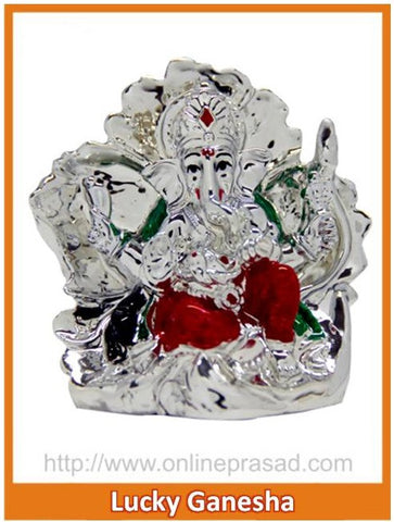 The Lucky Ganesha Idol - OnlinePrasad.com