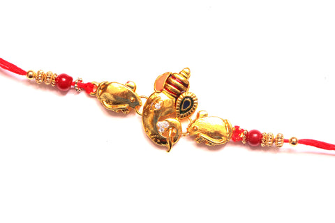 Ganesha with his mouse Rakhi , Zevotion Rakhis - Zevotion, OnlinePrasad.com