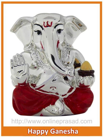 The Happy Ganesha Idol - OnlinePrasad.com