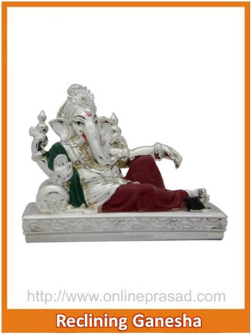 The Reclining Ganesha Idol - OnlinePrasad.com
