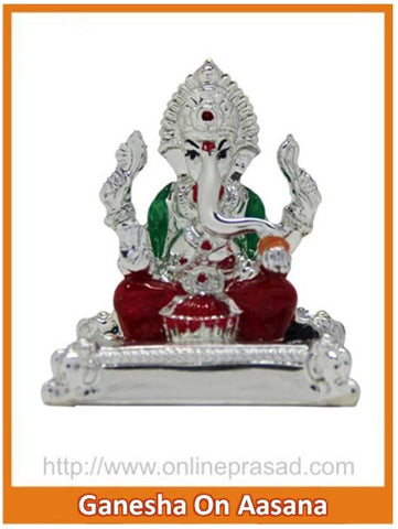 The Ganesha On Asana Idol , Zevotion - Sai Shagun, OnlinePrasad.com