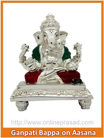 The Ganapati Bappa on Aasana Idol , Zevotion - Sai Shagun, OnlinePrasad.com