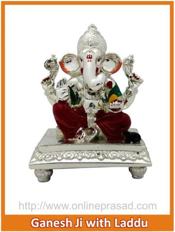 The Ganesh Ji With Laddu Idol , Zevotion - Sai Shagun, OnlinePrasad.com