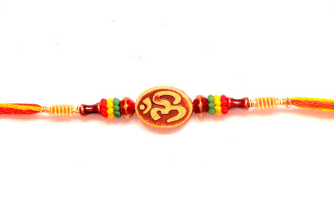 Craved Om Rakhi with beads , Zevotion Rakhis - Zevotion, OnlinePrasad.com