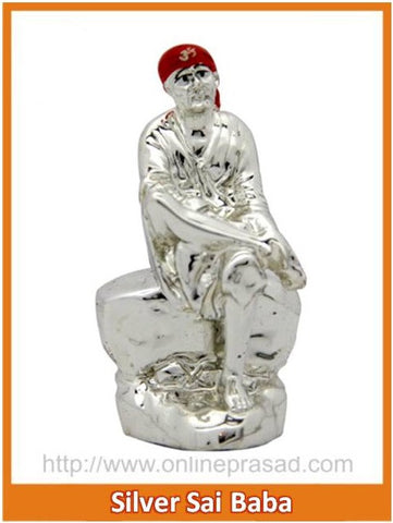 The Silver Sai Baba Idol , Zevotion - Sai Shagun, OnlinePrasad.com