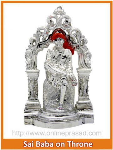 The Sai Baba On Throne Idol , Zevotion - Sai Shagun, OnlinePrasad.com
