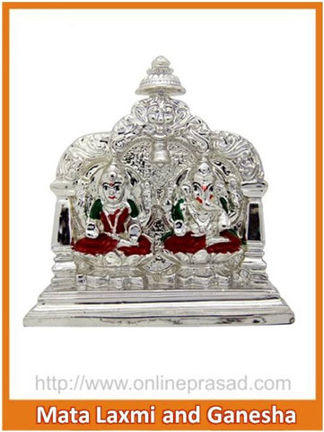 The Mata Lakshmi And Ganesha Idol - OnlinePrasad.com