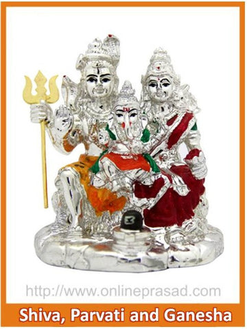 The Shiva, Parvati And Ganesha Idol , Zevotion - Sai Shagun, OnlinePrasad.com