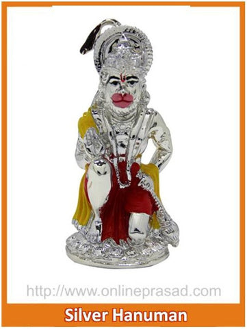 The Silver Hanuman Idol , Zevotion - Sai Shagun, OnlinePrasad.com