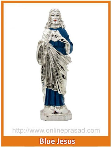 The Blue Jesus Idol , Zevotion - Sai Shagun, OnlinePrasad.com