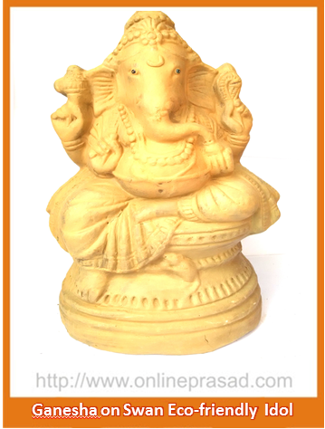 Ganesha with Large Ears - Eco Friendly Idol - OnlinePrasad.com