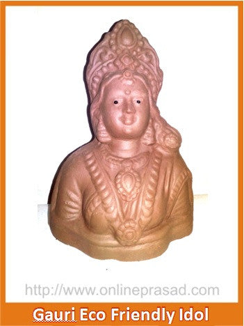 Ganesha and Gauri Eco Friendly Idol - OnlinePrasad.com