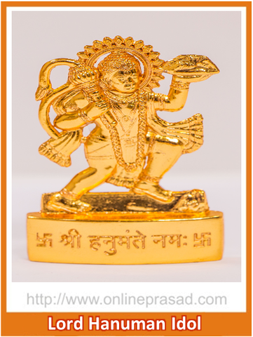 Zevotion Lord Hanuman Gold Plated  Idol - OnlinePrasad.com
