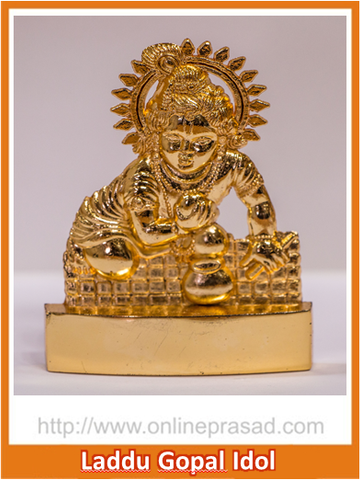 Zevotion Laddu Gopal Gold Plated Idol - OnlinePrasad.com