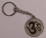 The Om In Silver Key Chain , Key chain - Zevotion, OnlinePrasad.com  - 1