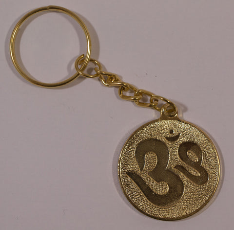 The Om In Gold Key Chain , Key chain - Zevotion, OnlinePrasad.com