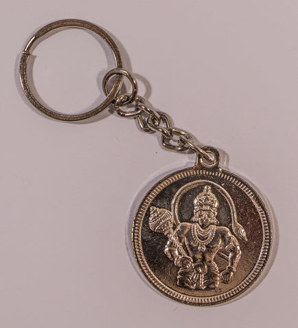 The Hanuman In Silver Key Chain , Key chain - Zevotion, OnlinePrasad.com