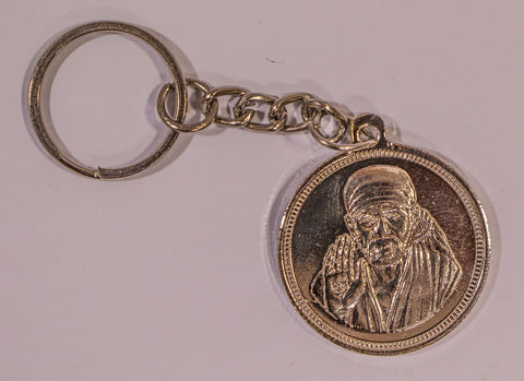 The Shiridi Sai Baba In silver Key Chain , Key chain - Zevotion, OnlinePrasad.com