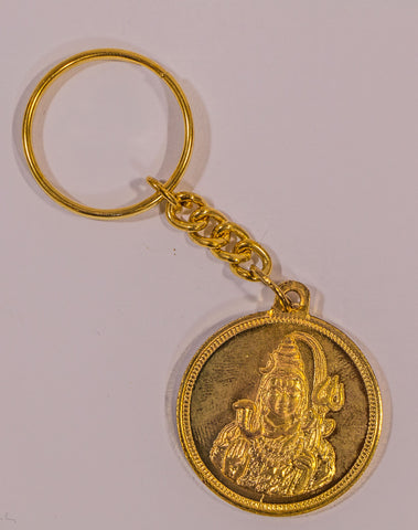 The Shiva In Gold key Chain , Key chain - Zevotion, OnlinePrasad.com