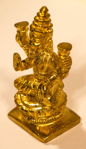 Zevotion Shining MahaLaxmi Gold Plated Idol - OnlinePrasad.com