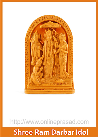 Shree Ram Darbar With Hanuman Idol - OnlinePrasad.com