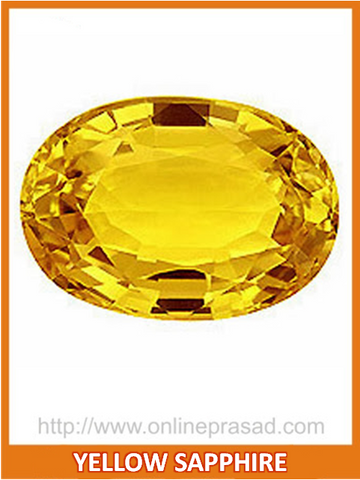 Yellow Sapphire (Pukhraj) , Zevotion Gemstone - Zevotion, OnlinePrasad.com  - 1