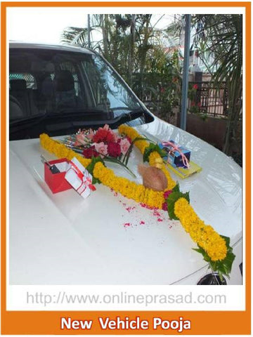 New Vehicle Puja - OnlinePrasad.com