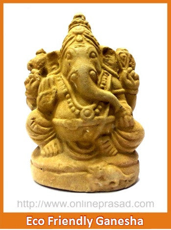 Eco Friendly Ganesha Idol - OnlinePrasad.com