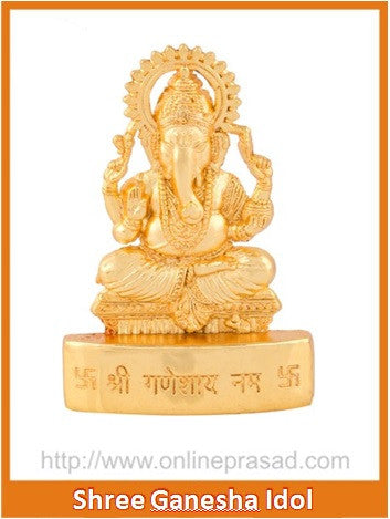 Zevotion Ganesha Gold Plated Idol - OnlinePrasad.com