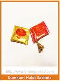 Kumkum Haldi Sachets-Set of 2 , Pooja - Cycle, OnlinePrasad.com  - 2