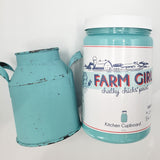 2 Chicks and a Toolbelt Chalky Chicks Furniture Paint Chalk Paint Farm Girl Kitchen Cupboard